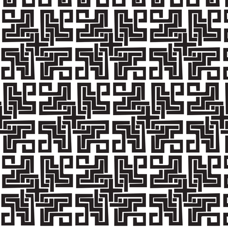 Crazy Maze fabric by schlir07 on Spoonflower - custom fabric