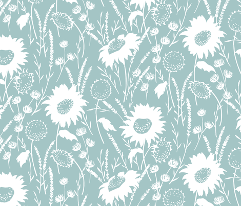 wildflowers fabric by jillbyers on Spoonflower - custom fabric