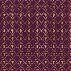 Lion Damask on Purple