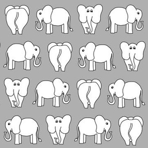 ELEPHANT PATTERN grey
