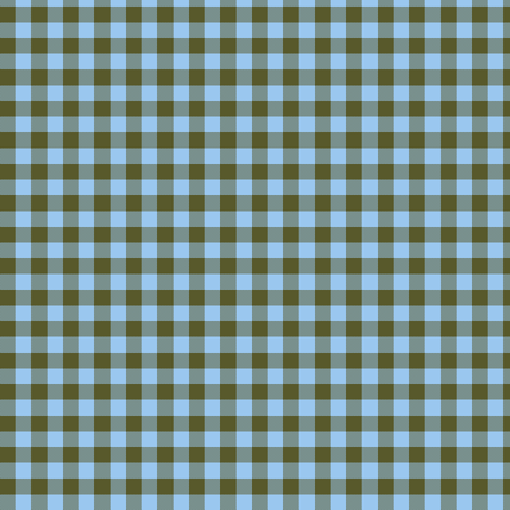 sky and olive gingham fabric by weavingmajor on Spoonflower - custom fabric
