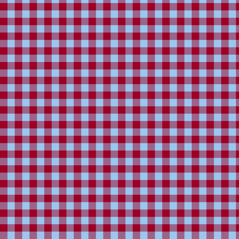 barn red and sky blue gingham fabric by weavingmajor on Spoonflower - custom fabric