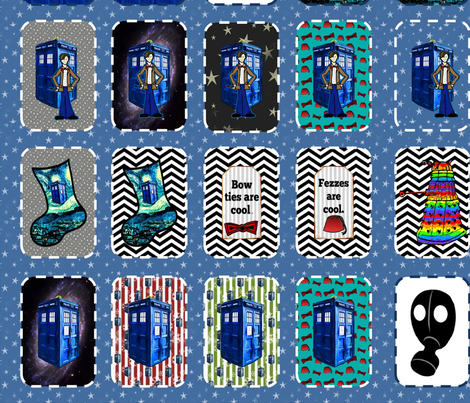 Christmas Ornaments DIY Fabric Project fabric by bohobear on Spoonflower - custom fabric