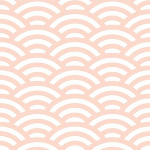 pale peach-pink and white scallop