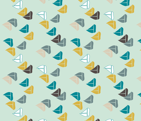 Sail Boats 90 fabric by mrshervi on Spoonflower - custom fabric