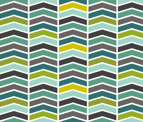 Chevron Blues fabric by natitys on Spoonflower - custom fabric