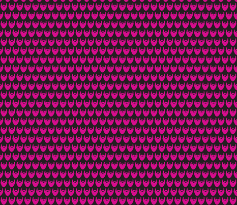beard pink fabric by kristin82lude93 on Spoonflower - custom fabric