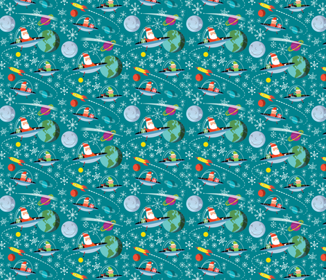 Space santa fabric edward elementary spoonflower for Spaceman fabric