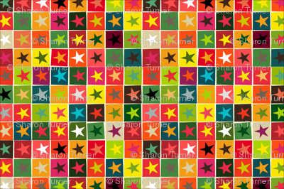 christmas boxed stars tea towel