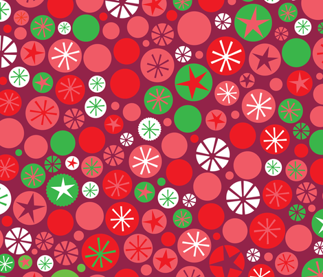 Xmas Circles Cranberry