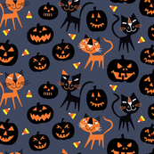 Halloween Cat Black