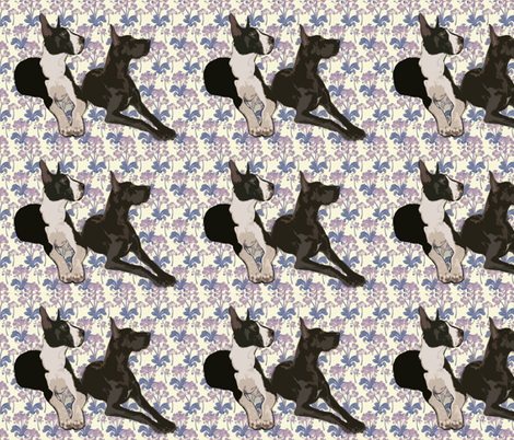 Great Danes Resting fabric by dogdaze_ on Spoonflower - custom fabric