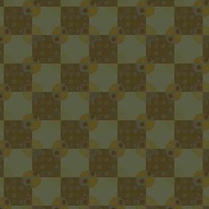 Circles on Checkerboard