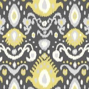 Gray and Yellow Ikat
