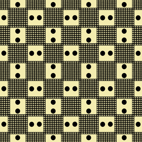 Dominoes on a Checkerboard fabric by anniedeb on Spoonflower - custom fabric
