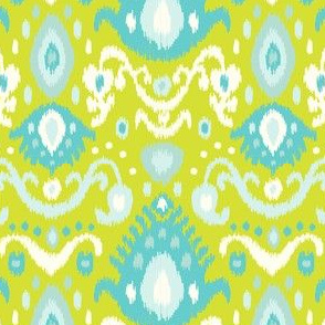 Lime and Turquoise Ikat