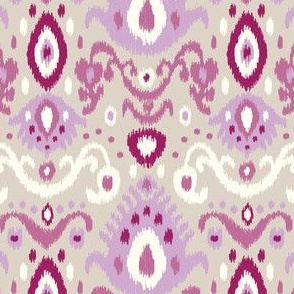 Purple and Linen Ikat