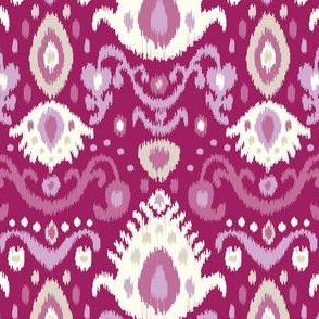Berry Purple Ikat
