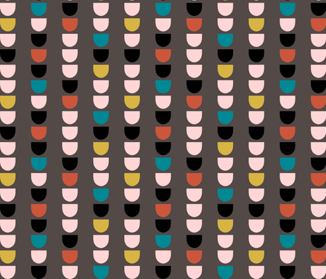 ModScallopGray fabric by mrshervi on Spoonflower - custom fabric
