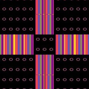 Buckles and Rainbow Stripes on Black