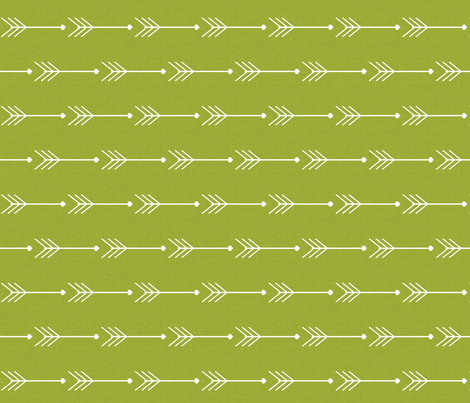 Green Arrows fabric by natitys on Spoonflower - custom fabric