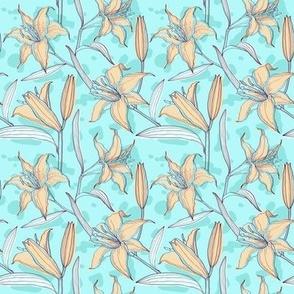 Elegant lilies pattern