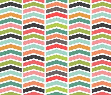 Girl Chevron fabric by natitys on Spoonflower - custom fabric