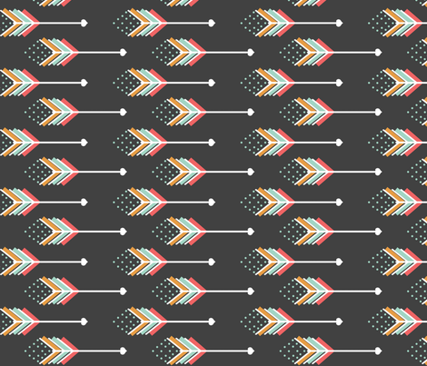 Love Arrows Girl fabric by natitys on Spoonflower - custom fabric