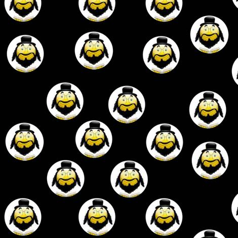 Rabbi Smiley! fabric by winterblossom on Spoonflower - custom fabric