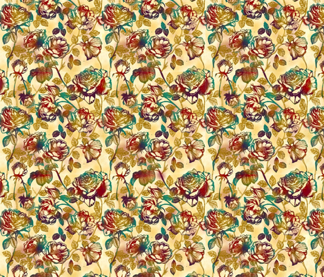 Kuler roses fabric by kirpa on Spoonflower - custom fabric