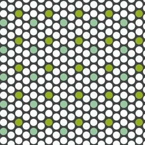 Dots grey and green