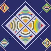Stella Protractor Argyle Tile