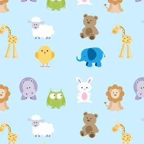 baby blue animals