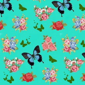 turquoise butterfly garden