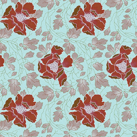 Floral Fling ~ New England fabric by peacoquettedesigns on Spoonflower - custom fabric