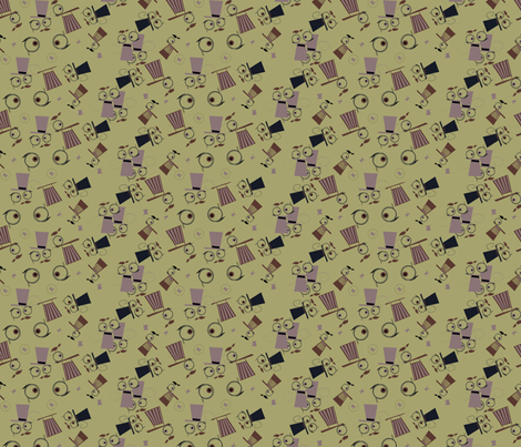 Binocular Viktor fabric by grafiketgrafok on Spoonflower - custom fabric