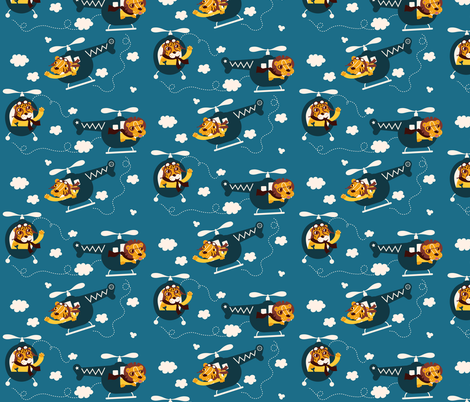 Lets chopper those wildcats in! fabric by verycherry on Spoonflower - custom fabric