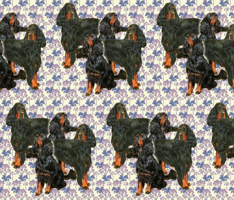 gordon_setters_in_the_garden fabric by dogdaze_ on Spoonflower - custom fabric