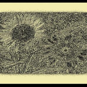 Sunflowers on Cream