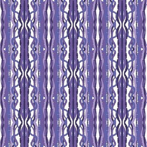 crazy, curvy stripes in lavenders and purples