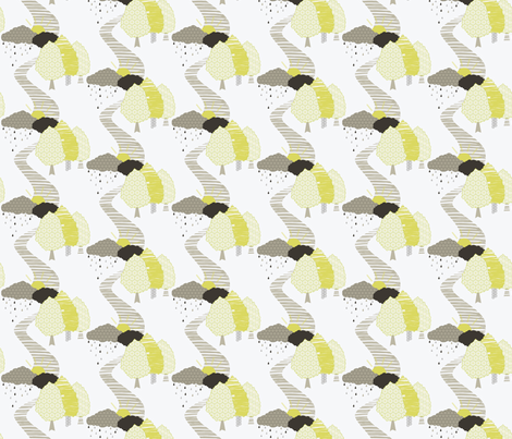 Drizzly day down Dale fabric by accidentalvix on Spoonflower - custom fabric