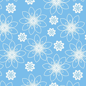 stylized white flowers
