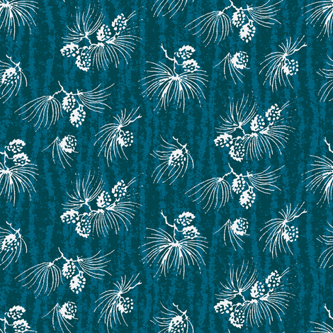 Moonlight treetops fabric by keweenawchris on Spoonflower - custom fabric