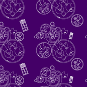 Gallifrey Police Box Purple