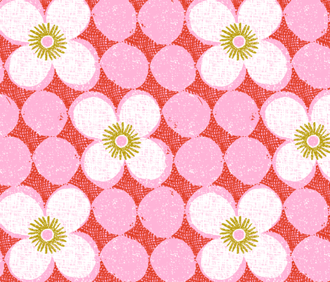 dotty flowers fabric by ottomanbrim on Spoonflower - custom fabric