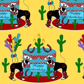 Western Boston Terrier Birthday Party