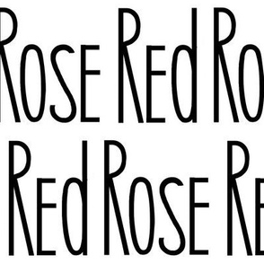 Red Rose text