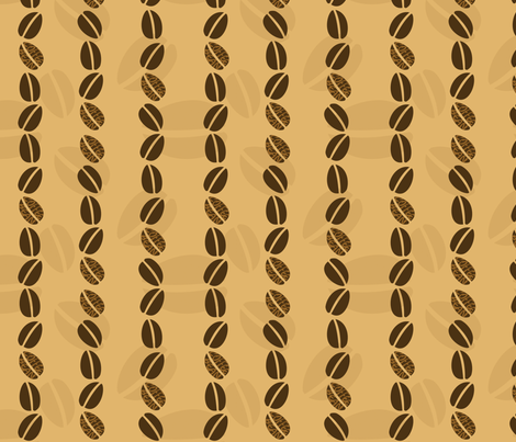 CoffeeBeans fabric by tammikins on Spoonflower - custom fabric