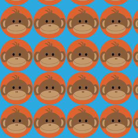 Monkeys in Orange Circles