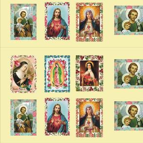 Catholic Saints Pannel - beige background
